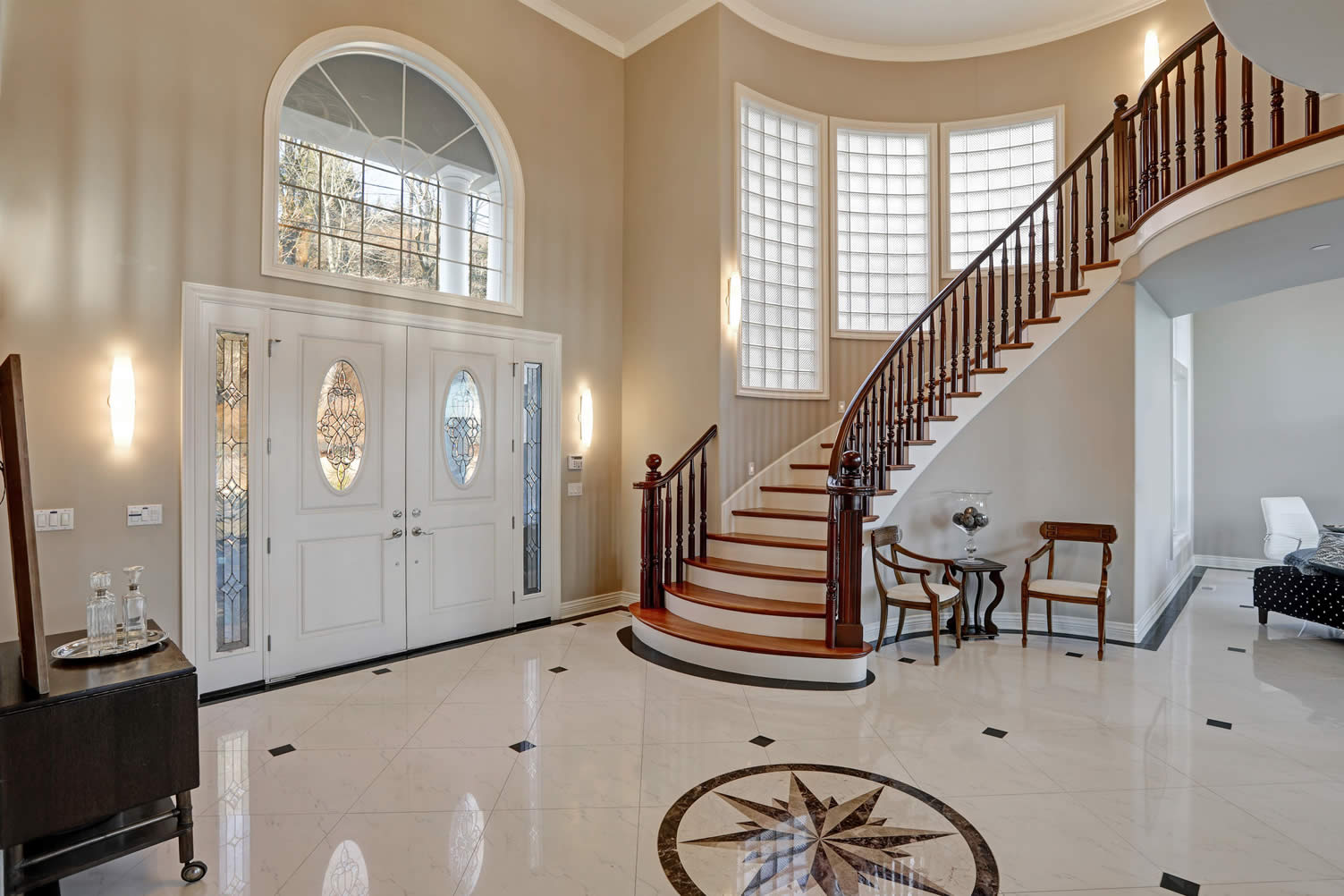 designed entry way