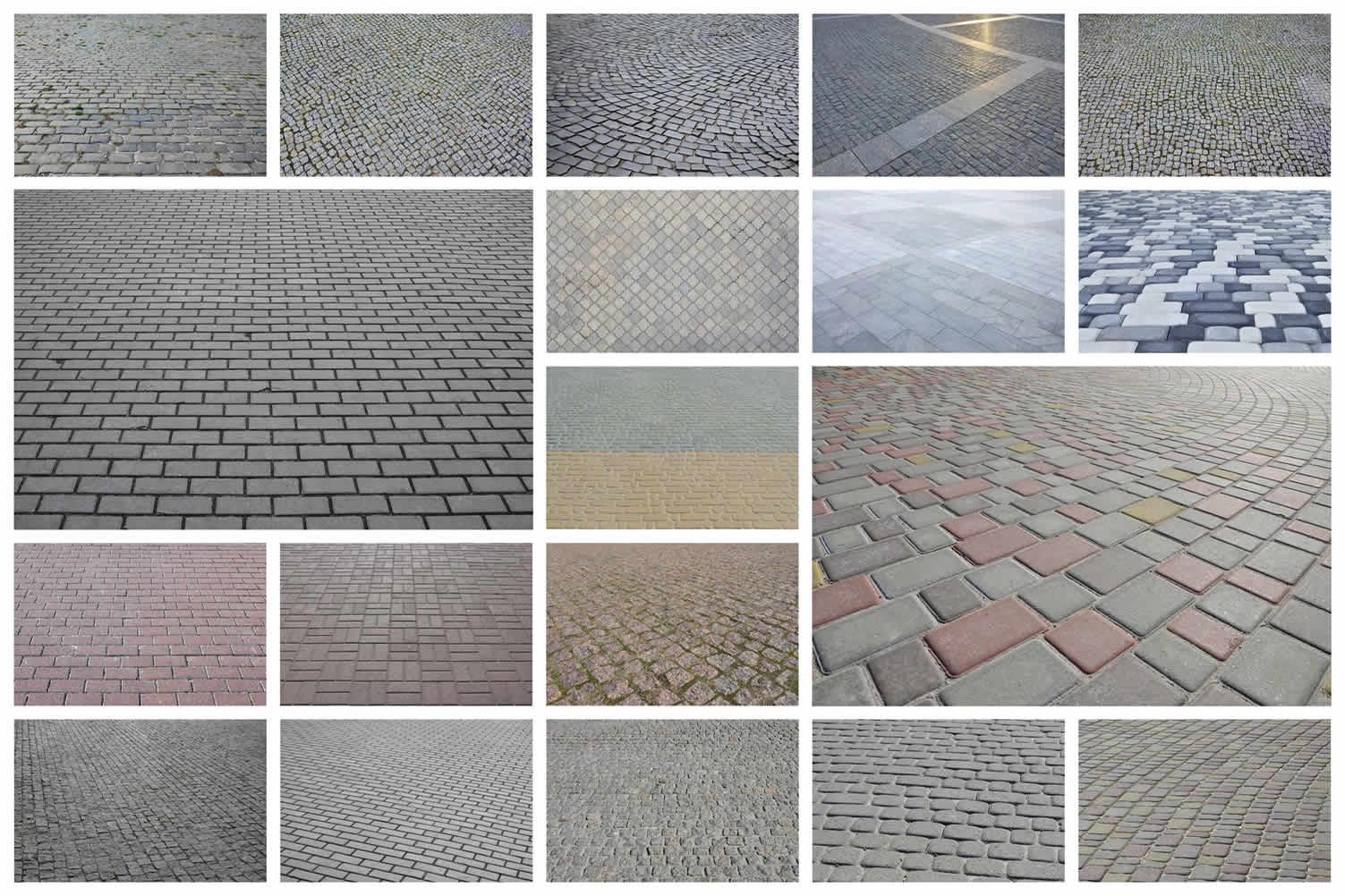 stone paver driveway