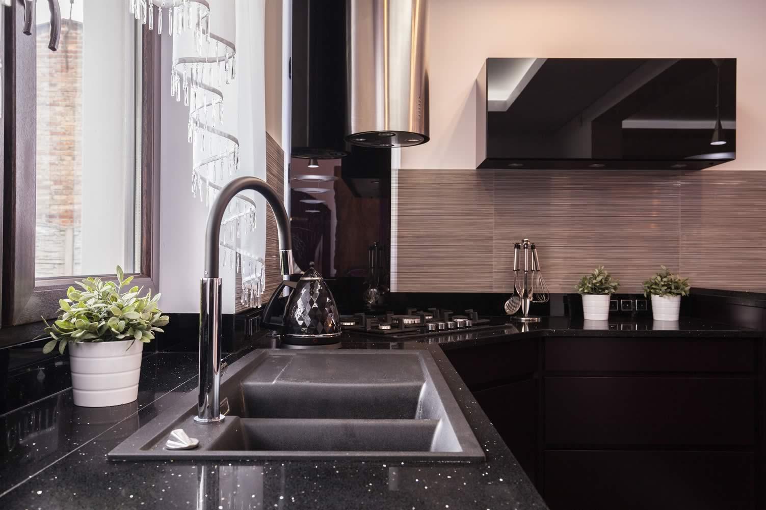 inside kitchen sink