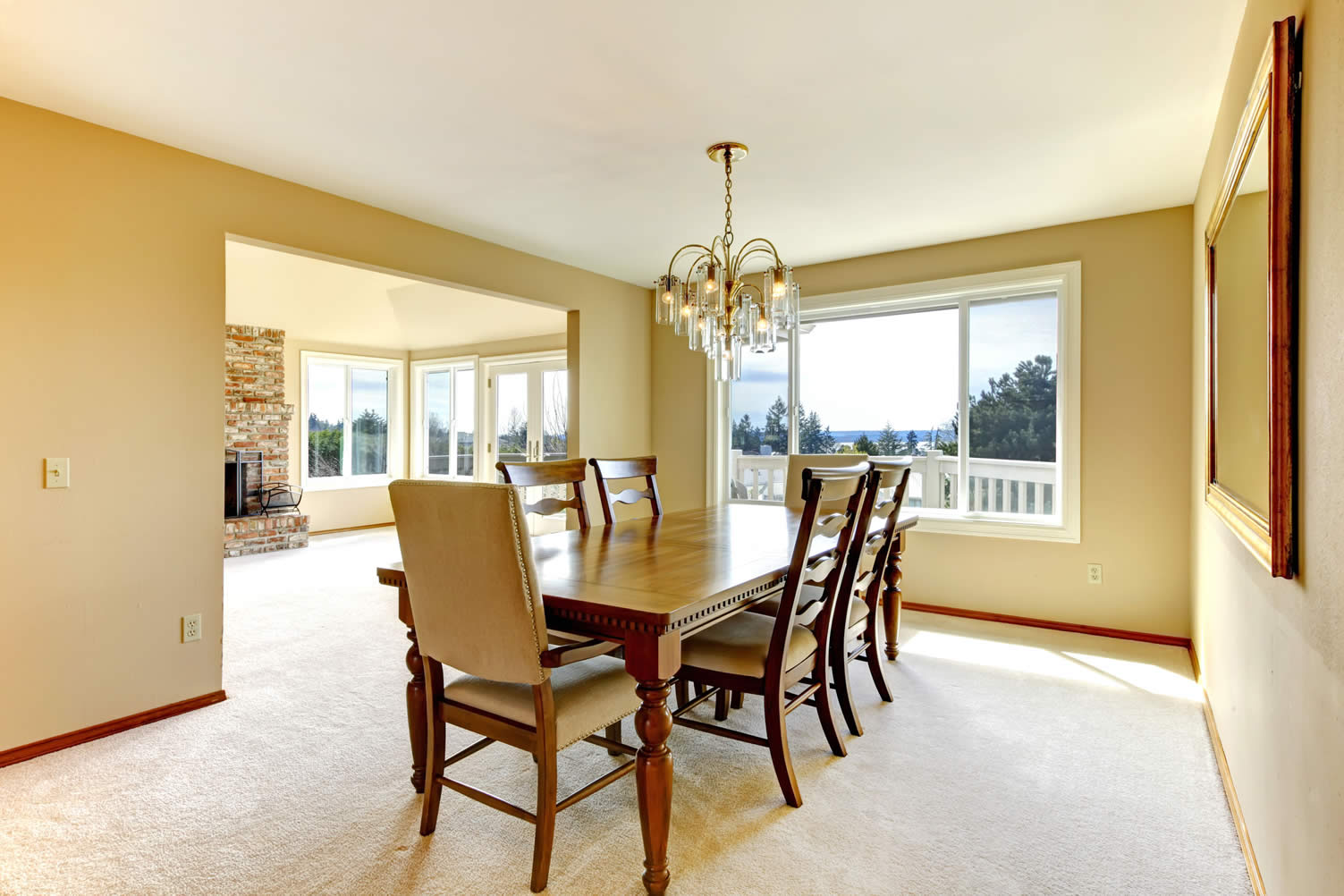 formal dining room area