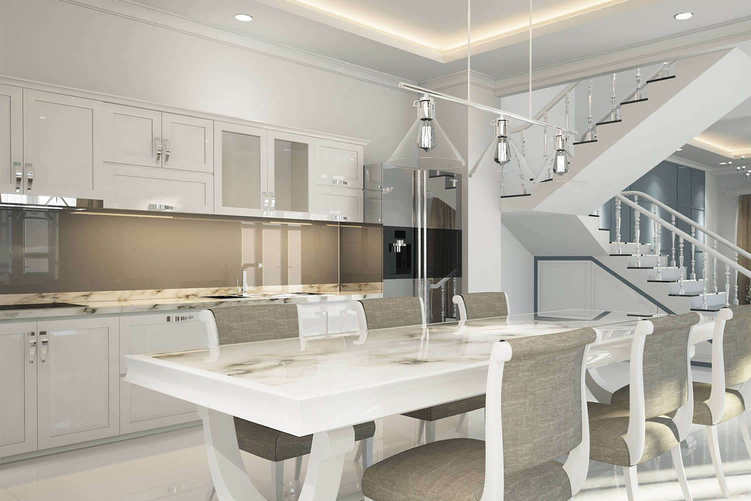 contemporary styled kitchen