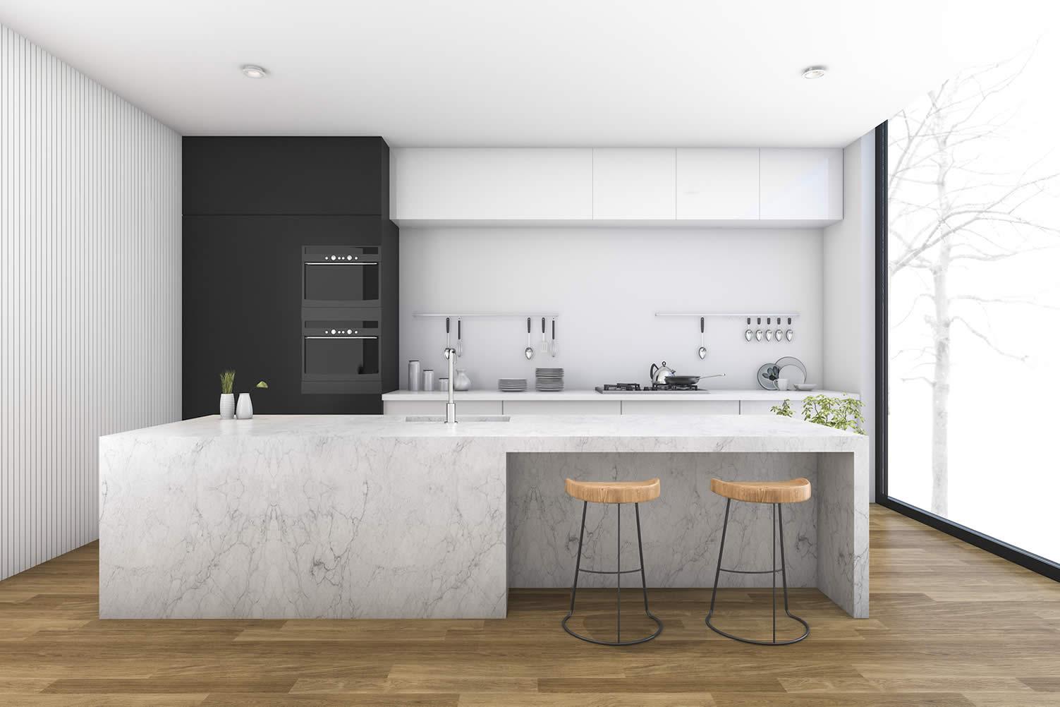 modern kitchen benchtops