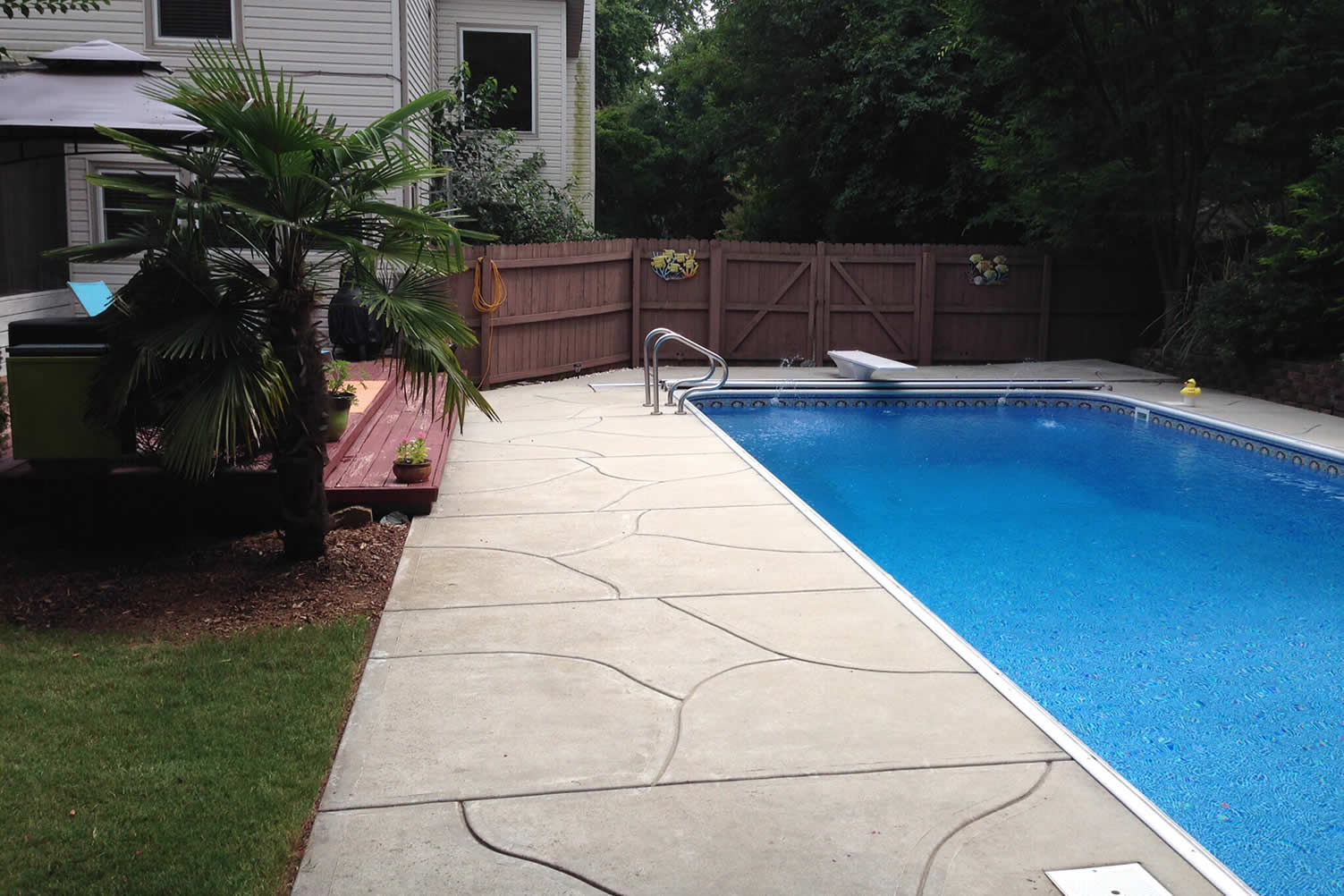 building pool in backyard