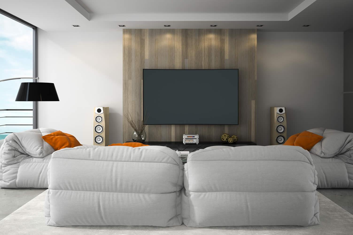 install an entertainment center